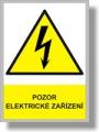 Bezpečnostní tabulka - V nebezpečí stiskni tlačítko