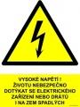Bezpečnostní tabulka - Pozor na jeřáb