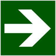FTL fólie - Šipka rovná, směr k bezpečí