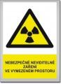 Bezpečnostní tabulka - Nebezpečí silné magnetické pole
