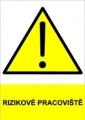 Bezpečnostní tabulka - Nebezpečí požáru hořlavých prachů