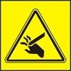 Nebezpečí useknutí prstů nebo ruky