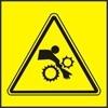 Nebezpečí vtáhnutí ruky do stroje