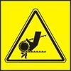Nebezpečí vtažení ruky řetězem nebo ozubeným řemenem