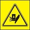 Nebezpečí zmáčknutí ruky shora