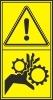 Výstraha - Nebezpečí vtažení končetiny ozubenými koly