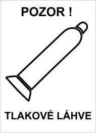 Plast - Pozor! Tlakové láhve (bílá)