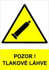 Plast - Pozor! Tlakové láhve (žlutá)